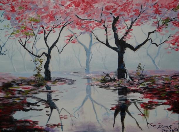 Örömfestés cseresznyefa