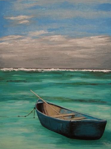 Örömfestés csónak