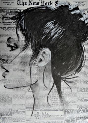 Újságpapír rajzolás