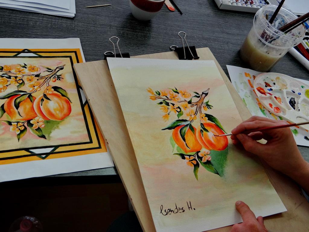Festőtanfolyam életkép - akril festés