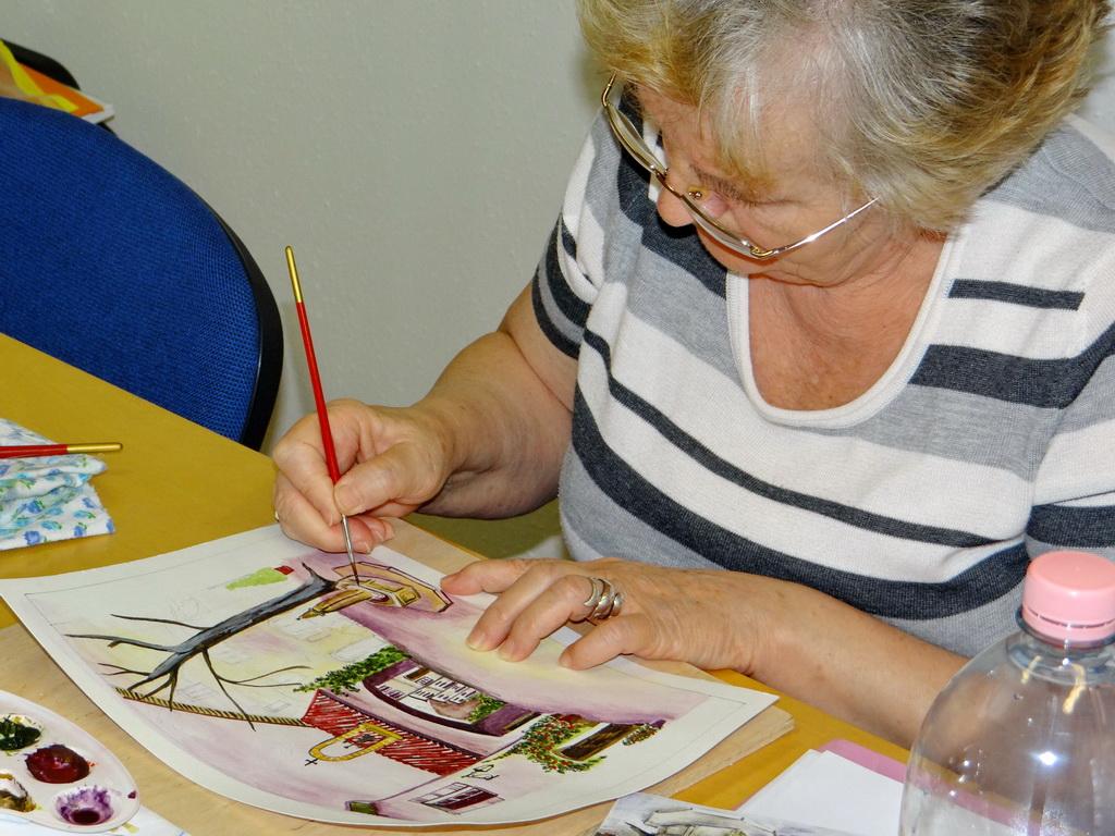Festőtanfolyam életkép - festés akvarell technikával