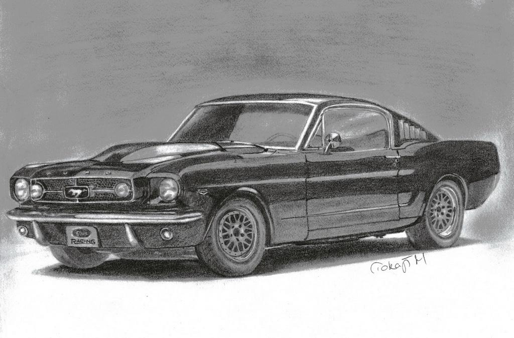 Jobb agyféltekés rajztanfolyam-Mustang - grafit