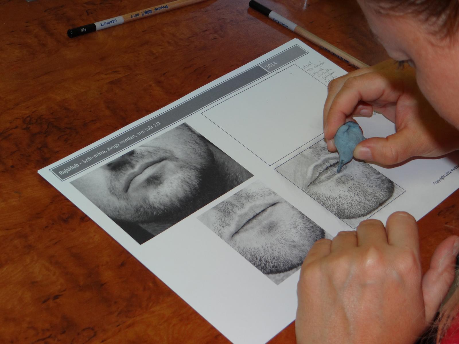 Rajzklub - készül a grafit szakáll