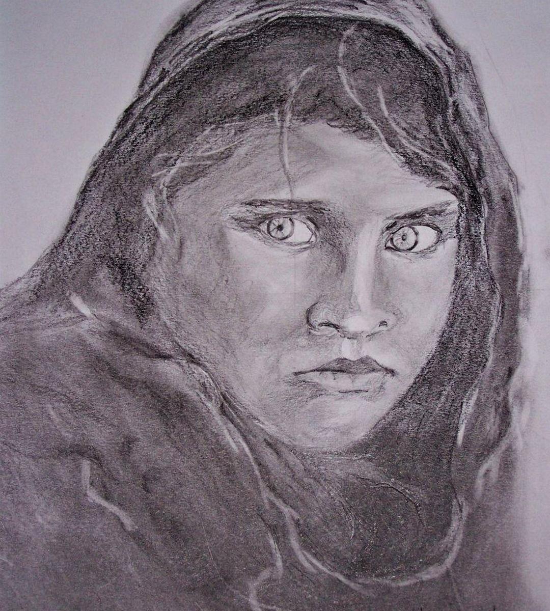 Afgán lány