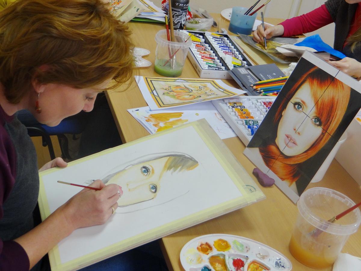 Készül az akvarell portré