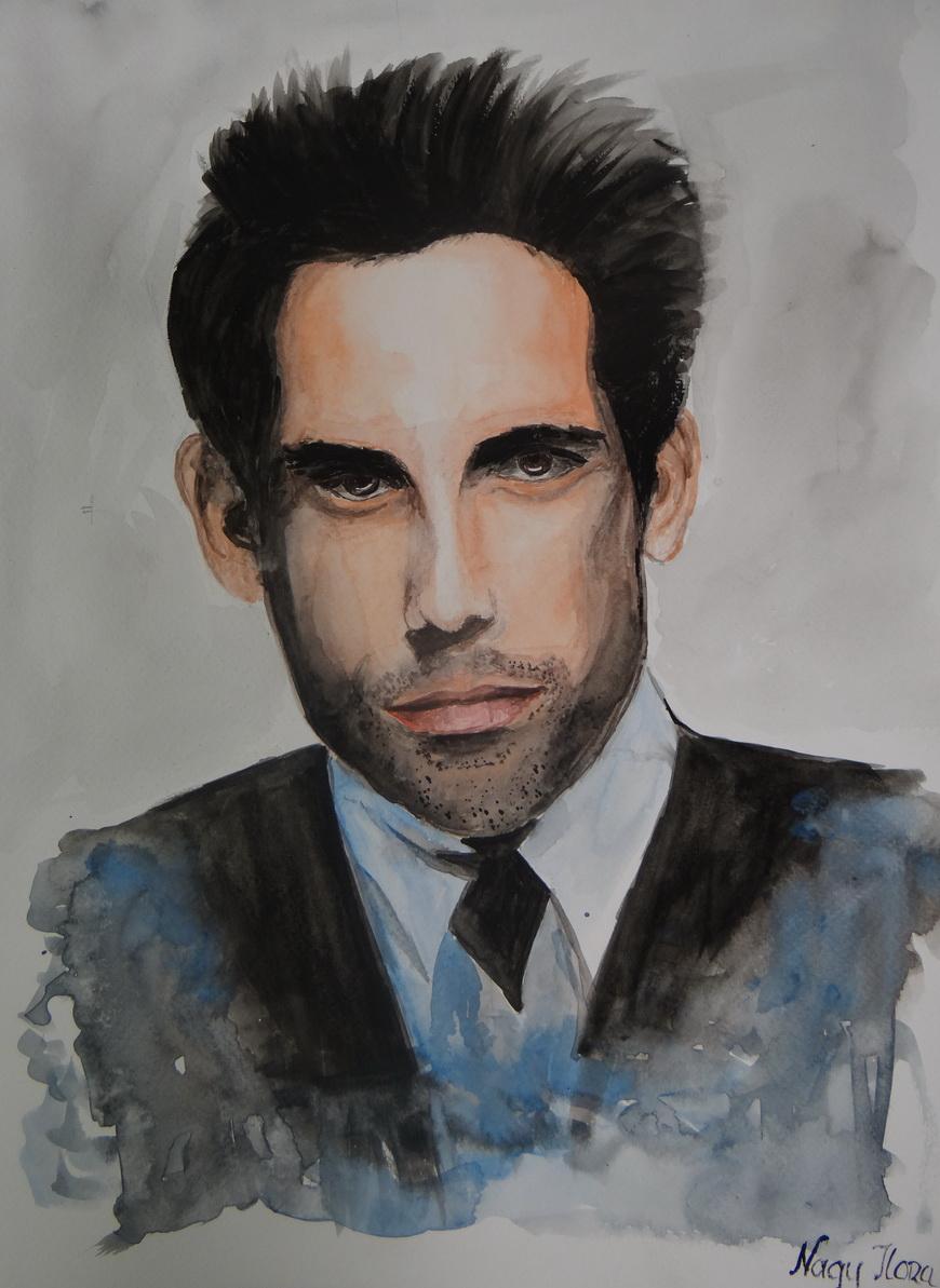 Ben Stiller-akvarell festmény