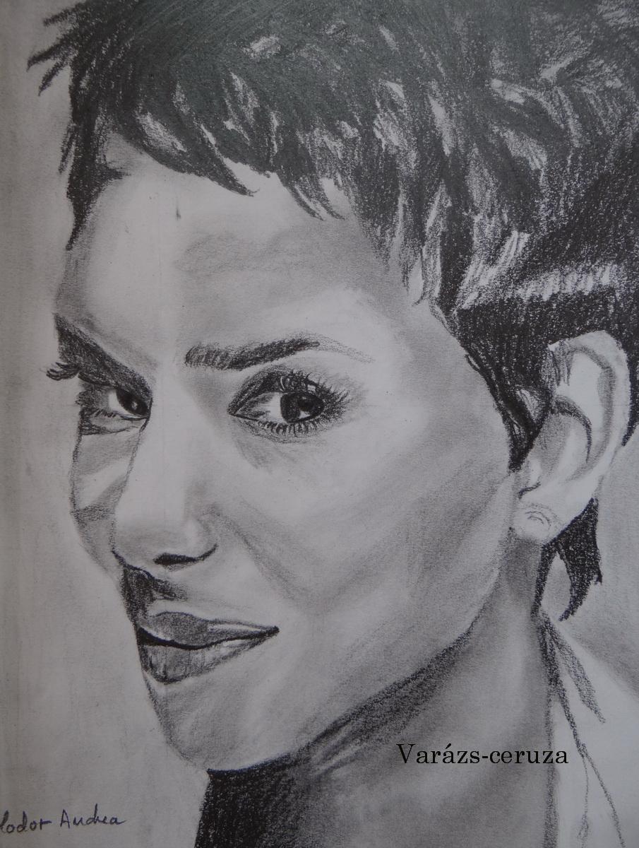 Halle Berry-grafit rajz
