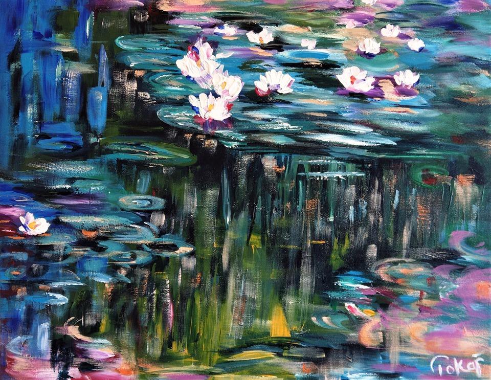 Tavirózsák - Monet reprodukció