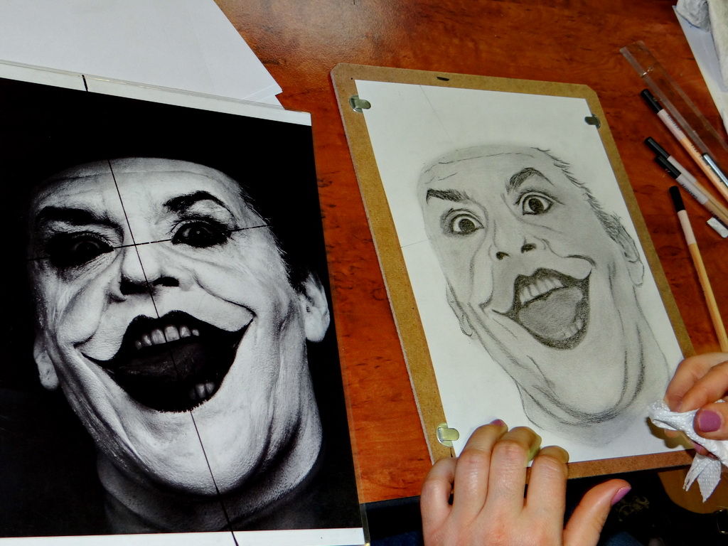 Jobb agyféltekés rajztanfolyam - készül Joker
